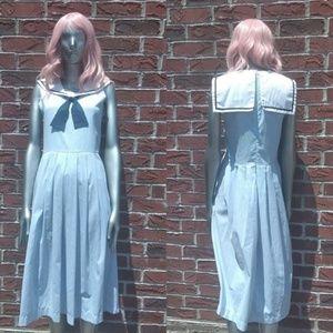 Sleeveless Vintage Sailor Dress